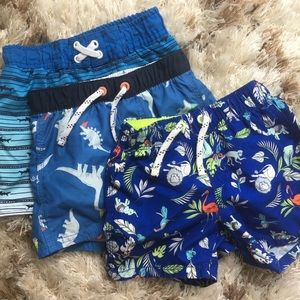 Baby Swim Trunks (Baby Gap x 2 & Cat and Jack x 1
